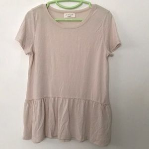 Tiered Creme Short Sleeve Top